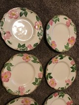 "Set Of 4 Franciscan Desert Rose Bread & Butter Dessert Plates 6.25"" TV s... - $34.64"