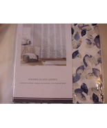 Tommy Hilfiger Stained Glass Leaves Blue Gray White Shower Curtain - $39.00