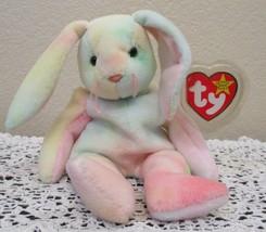 Ty Beanie Baby Hippie The Tie Dye Bunny Rabbit USED - $5.93