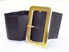 Chunky Pirate Santa Leather Look Black Belt Excellent For Santa Costume - $4.81