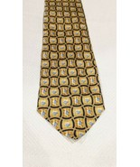 PFIZER TIE VIAGRA For Men Pills Tablets GOLD BLUE GEOMETRIC Silk Necktie - $34.65