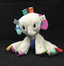 Bright Starts Taggies Elephant Baby Plush Sensory Toy Lovey Baby Gift - $15.85