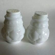 Vintage AVON Bird of Paradise Powder Sachet Empty Bottles Milk Glass (2)  - $9.85
