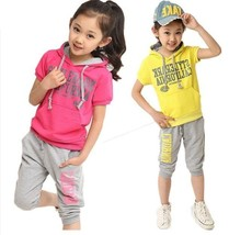Girls Clothing Set Cotton Hoodies+pants Clothes Set For Girl Outfits Spo... - $17.00