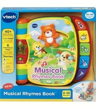 VTech Musical Rhymes Educational Book for Babies - $26.41