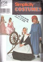 Simplicity 9708 Costumes Child's & Girls' Puritan, Centennial, Etc... - $3.95
