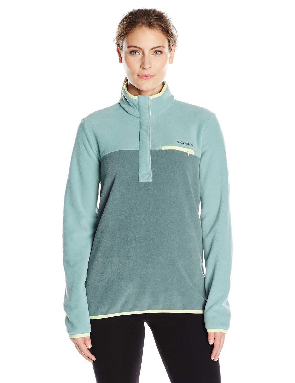 Columbia Women's Mountain Side Pullover, Dusty Green Pond, Small