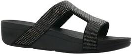 FitFlop Marli HotFix Slide Sandal BLACK 9 NEW 665-838 - $100.96