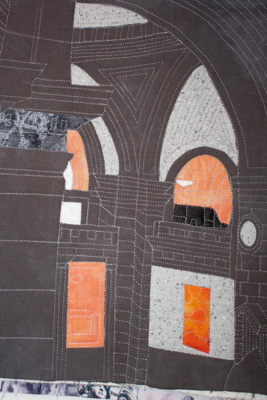 Museum Arches ~ Art Quilt