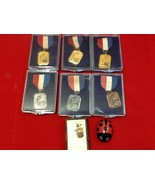 Rare AAU 1959 Junior Olympics Swimming Medal Red White Blue Pin w/Box Lo... - $30.00