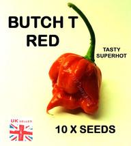 10x Butch T Rosso Semi Di Peperoni UK rivenditore. Bella Gustosa Capsule... - $15.85
