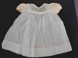 Vintage Lt. Blue Cotton Dress w/ White Cap Sleeves for a (M) Baby Toddle... - $16.99