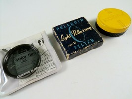 Lot of 3 Vintage Lens Filters - Kodak, Polaroid, Tiffen - $11.87