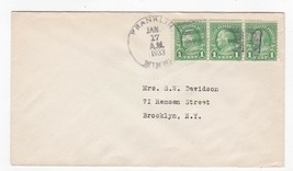 FRANKLIN MINN ON 1C BENJAMIN FRANKLIN STAMPS JANUARY 17 1933  - $1.98