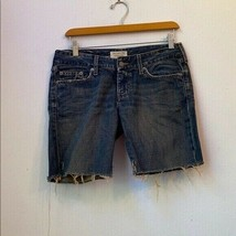 ABERCROMBIE AND FITCH SOLID BLUE SHORTS SIZE 4R - $23.51