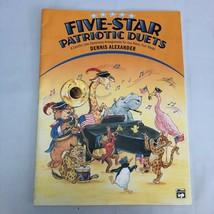 Five-Star Patriotic Duets sheet music book colorful America EUC late el... - $5.75