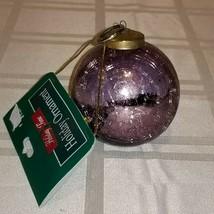 Vintage KUGEL Style Purple Crackle Glass Christmas Ornament Heavy made i... - $29.69