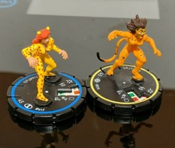 Lot of 2 Heroclix Cheetah #017 and #70 Cosmic Justice DC Figures  - $6.92