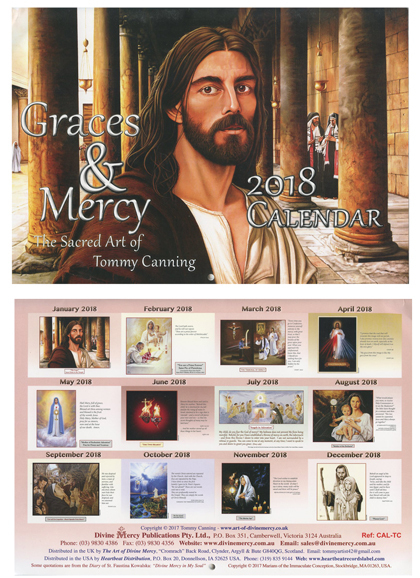 Graces and mercy   2018 tommy canning art calendar
