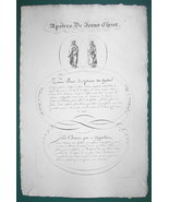 "1826 PENMANSHIP Calligraphy Christ Apostles - 12"" x 18"" Superb Print #18 - $37.76"