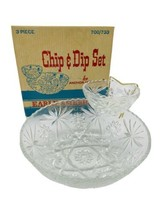 Chip And Dip 3 piece Set - by Anchor Hocking - Early American Prescut Vintage L - $66.33