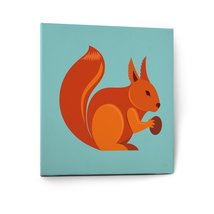 Cute Animals Pictures Canvas Wall Art Painting Prints Decor Squirell - $16.85+