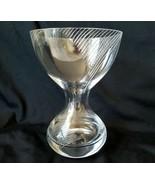 Spiegelau Germany Glass Corset Vase Triple Spiral Hand Cut S Crown Mark - $85.45