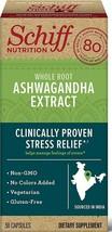 Schiff Ashwagandha Extract Capsules, (50 ct), Vegetarian, Non-GMO - $11.87