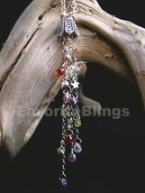 Cosmic CZ Briolettes Tassel Dangle Handmade Necklace And Divine Birthsto... - $109.99