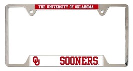 Oklahoma Sooners Heavy Duty Chrome Metal License Plate Frame - $13.95