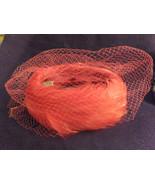 "Hat,Vintage, Red Feathers, Like a ""Katherine Hepburn""style, 1950's, Unio... - $55.00"