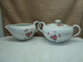 Fine China, Gemini Rose sugar & creamer set. - $20.00