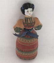 vintage avon American heirloom sachet soft body porcelain head decorativ... - $13.86