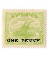 (I.B) Papua Postal : Overprint 1d on ½d OP - $84,76 MXN
