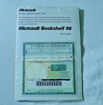 Microsoft Bookshelf 98 Reference Library CD ROM 1998 Edition With COA - $5.45