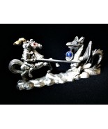 Vintage 1987 Spoontiques Pewter Figurine CMR657 Dragon Crystal Horse Jou... - $28.70