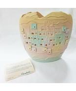 Vintage 1990 Shadrak Airbrushed Pueblo Pottery Vase contemporary - $34.78