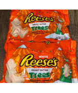 Reese's ~ White Peanut Butter Christmas Trees 2-Bags, 10.8 Oz. Each ~ 07... - $26.17