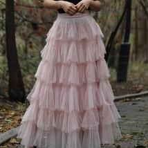 Women Black Tiered Tulle Skirt Full Long Black Tulle Layered Skirt Plus Size image 6