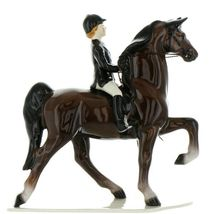 Hagen Renaker Specialty Horse Dressage with Rider Ceramic Figurine image 12