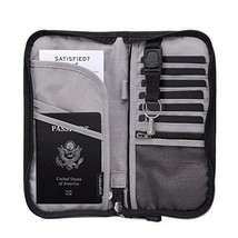 Zoppen RFID Travel Wallet & Documents Organizer Zipper Case - Family Pas... - £19.69 GBP