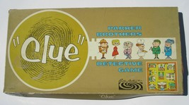 1963 Vintage CLUE Board Game Wood Pawns Parker Brothers Complete With Bo... - $16.73