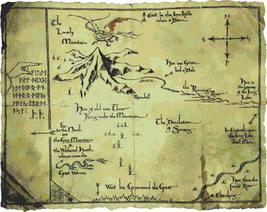 counted cross stitch pattern hobbit mountain and smaug 438x348 stitches ... - $3.99