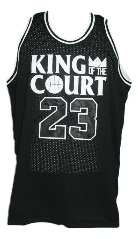 Michael jordan  23 king of the court basketball jersey black   1