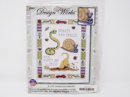 Design Works Counted Cross Stitch Kit - Snakes & Snails... - $16.14