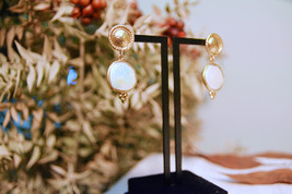 Pearl Earrings, White Pearl Drops, Freshwater Pearl Earrings - $69.00