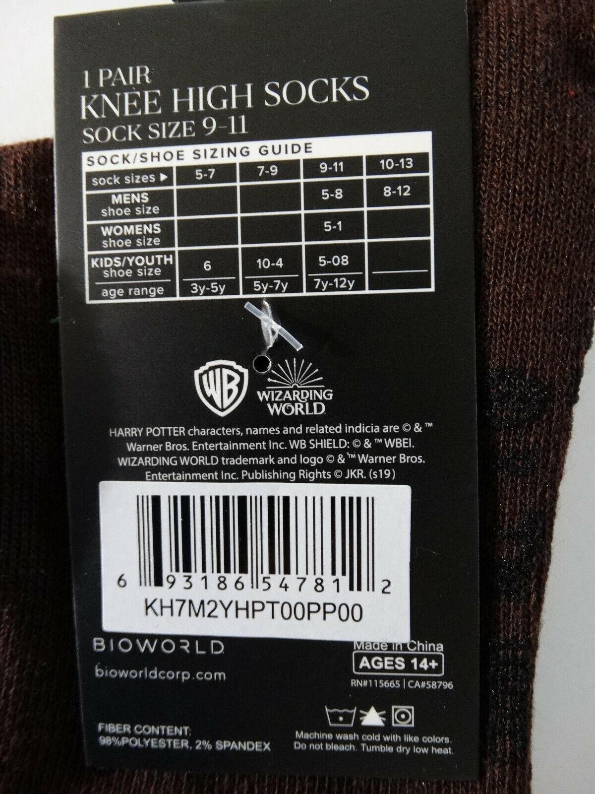 Harry Potter Movie Hogwarts Trunk Adult Knee High Socks