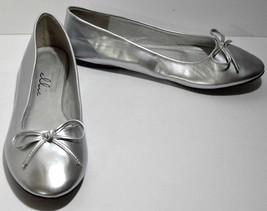 Silver Flats Womens 10.5/11 Ballet Shoes Ellie Dance Costume Party New w... - €13,15 EUR