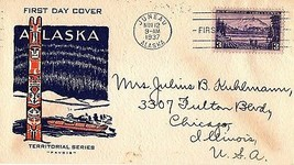 November 12, 1937 First Day of Issue, Juneau, Alaska Territorial Series ... - $7.00