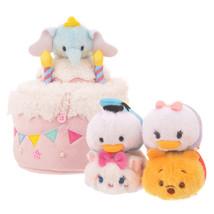 TSUM TSUM Character 4th Anniversary Cake House Set Plush Dumbo Poo Marie... - $78.21